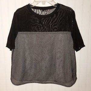 TOPSHOP mesh netted crop top size 10